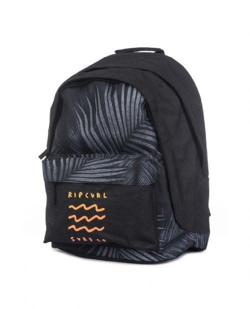 RIP CURL BACKPACK.DOUBLE DOME GLOW IN THE DARK BLACK RUCKSACK SCHOOL BAG 8W 2 90
